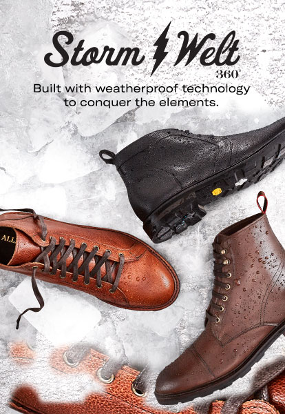 Storm Welt. Built with weatherproof technology to conquer the elements.