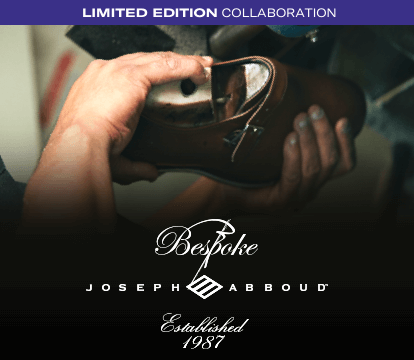 Limited Edition Collaboration. Bespoke - Joseph Abboud - Established 1987