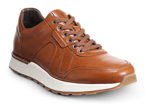 Allen Edmonds-A-Trainer Walnut Leather Dress Sneaker