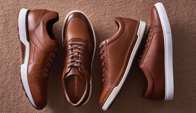 Allen Edmonds-Walnut Dress Sneakers Collection