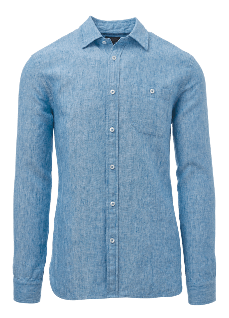 Allen Edmonds - Light Blue Linen Men's Shirt
