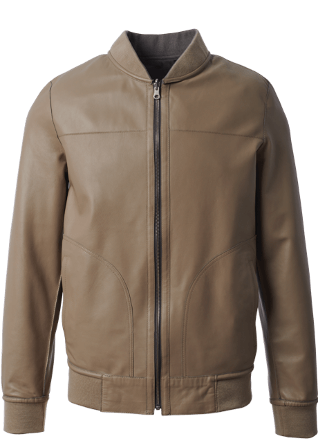 Allen Edmonds - Reversible Leather & Suede Grey Tan Bomber Jacket