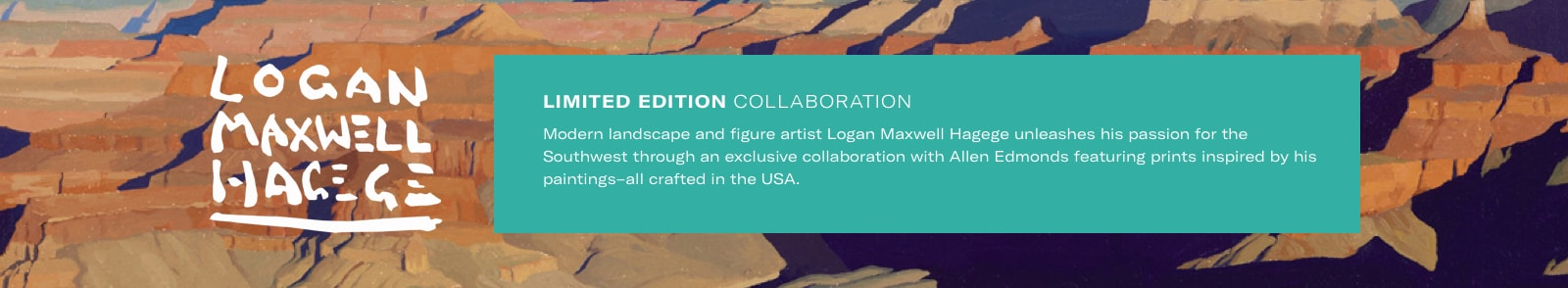 Limited edition collaboration with Logan Maxwell Hagege. Focusing on contemporary Native Americans living in the Southwest, modern landscapes, bucking broncos, and other American relics. Hagege credits childhood trips to the California desert to visit his grandmother as early inspirations for his art.