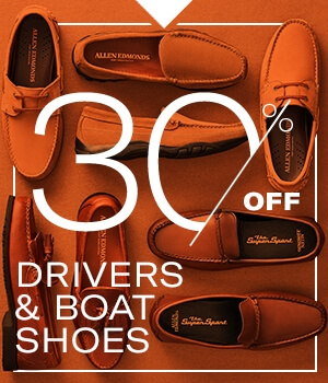 30% off boat shoes and drivers. Don't let this deal slip away.