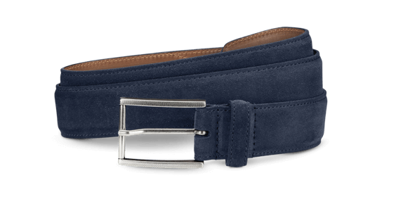 Allen Edmonds -  Suede Ave Men's Navy Belt